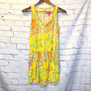 Lilly Pulitzer Yellow Multi-Colored Romper Size XS